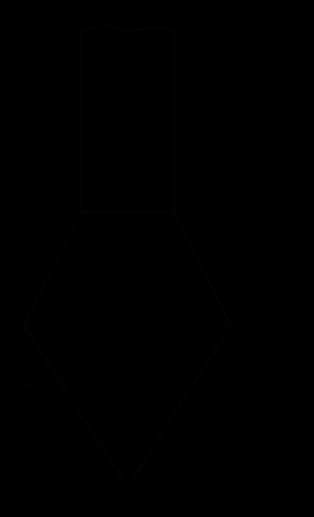Рис.1 Зонд для динамического зондирования. 1-конус, 3-штанга